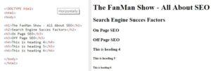 HTML Heading Tags 1-6