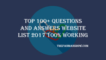 Top 100+ Questions and Answers Website List 2017 Updated 100% Working for Building Off Page SEO