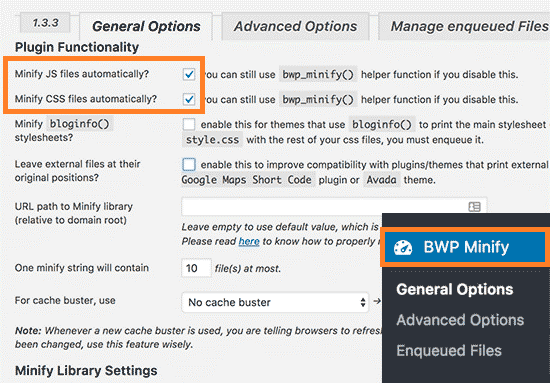 BWP Minify WordPress Plugin