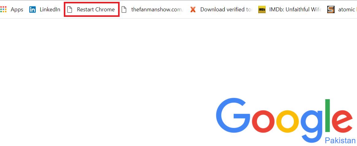 how do you restart google chrome browser?