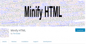 how to download and use minify html