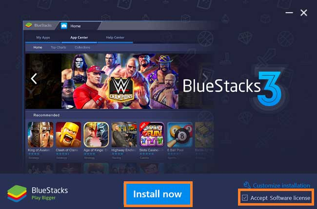how to install bluestack 3 software in windows or mac