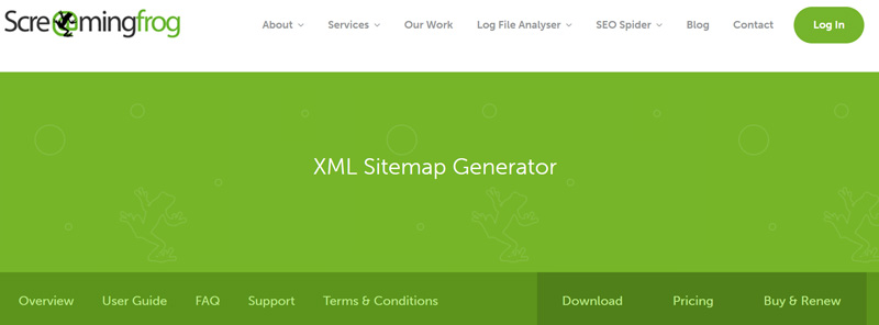 create xml sitemap with Screaming Frog SEO Spider
