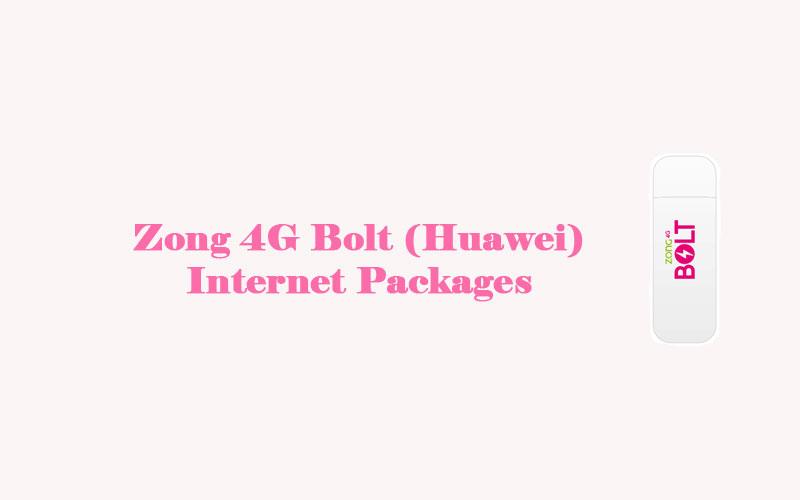 Zong 4G Bolt Internet- PackagesZong(Huawei)