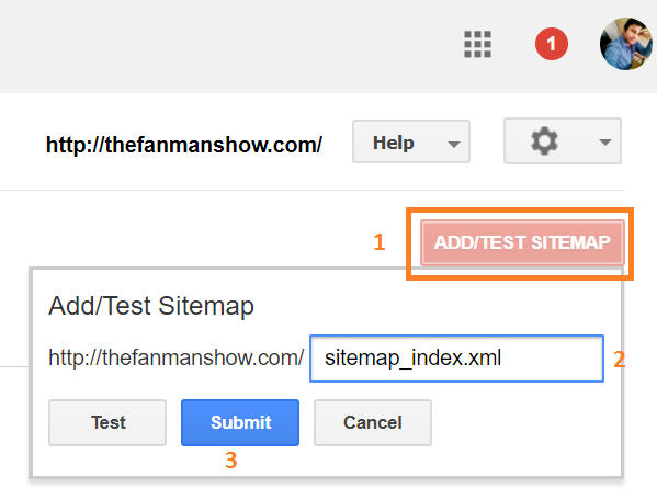 webmaster tools submit url - sitemap submission