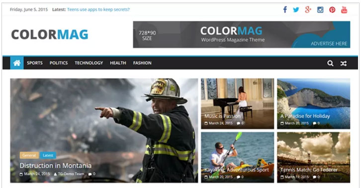 ColorMag themes for wordpress