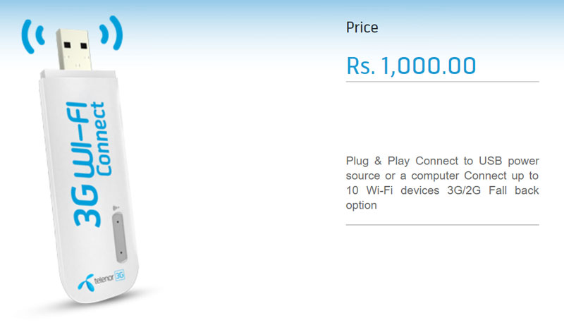 Telenor 3G WINGLE price features and reviews