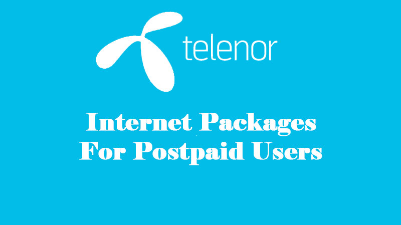 Telenor-Internet-Packages for Postpaid Users