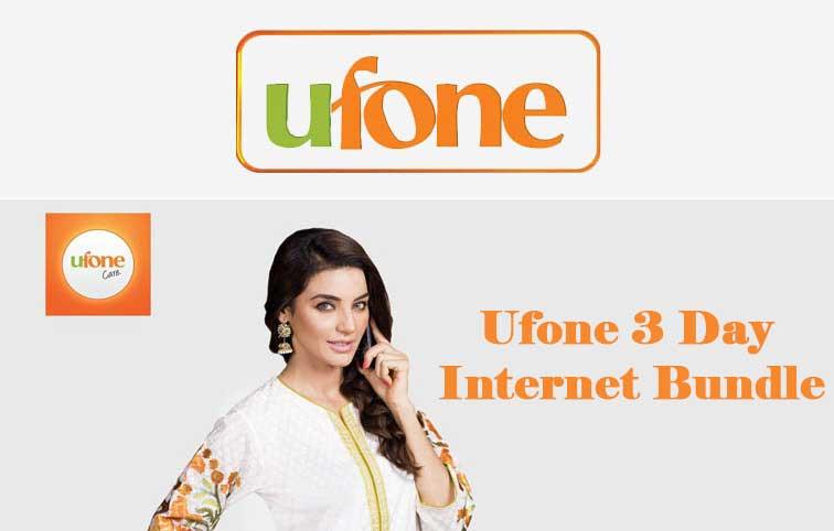 Ufone 3 day internet bundle