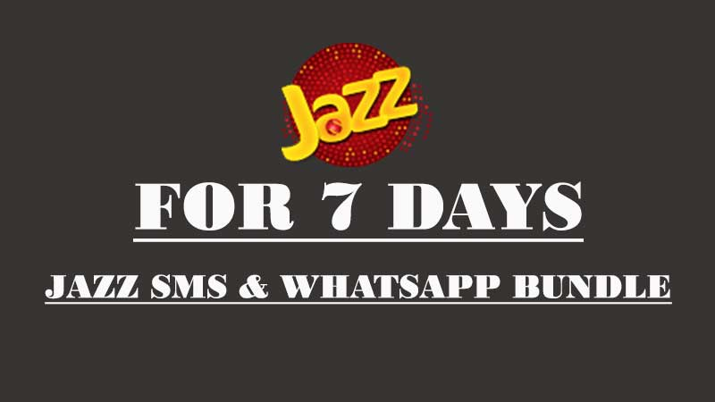 Jazz Weekly SMS Package For 1200 Free SMS and 25 MBs for